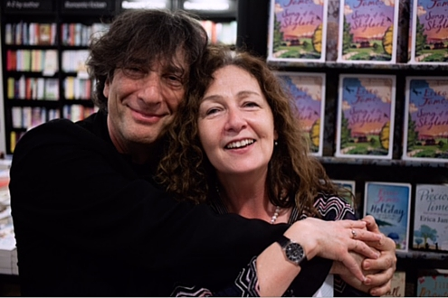 Neil Gaiman and Cathy Galvin talk at a Word Factory salon